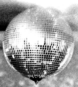 Disco van 2000 mirror ball